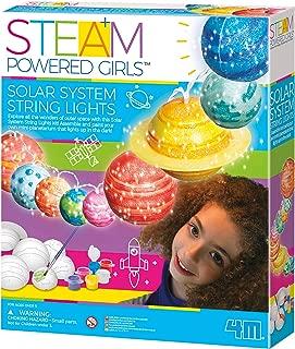 4M 3825 Steam Powered Girls Solar System String Lights Toy, White