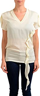 fb29b0ff Dsquared2 Women's Ivory 100% Silk Short Sleeve Blouse Top US XS ...