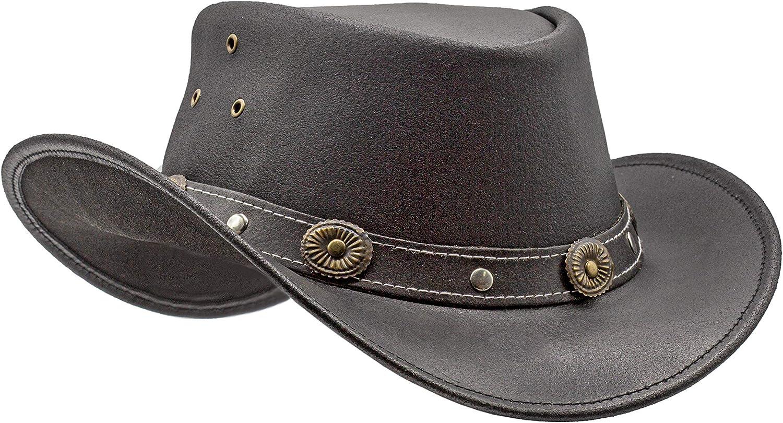 HADZAM Showerproof latest Leather Cowboy hat D for rain Popular popular Western Hat