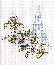 RTO Window To Paris Counted Cross Stitch Kit-3.75