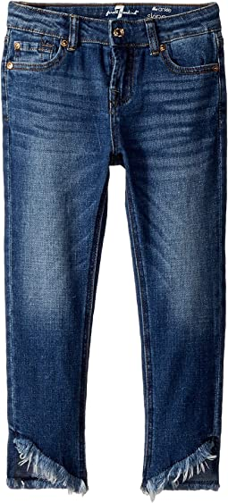7 For All Mankind Kids The Ankle Skinny Jeans in Barrier Reef (Little Kids)