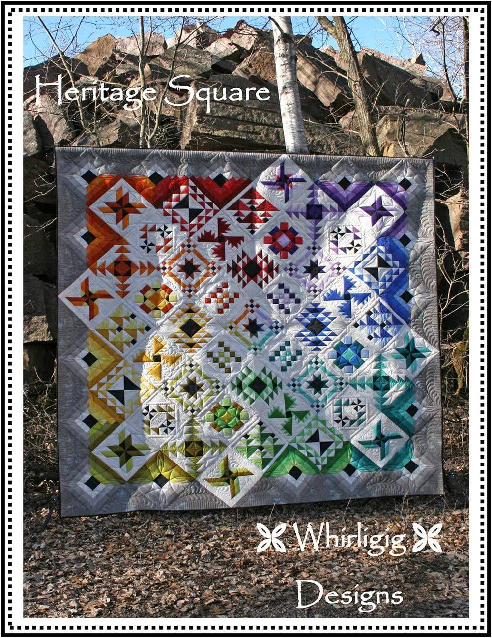 Heritage Square Quilt Pattern High order Mail order by Hoover Chris