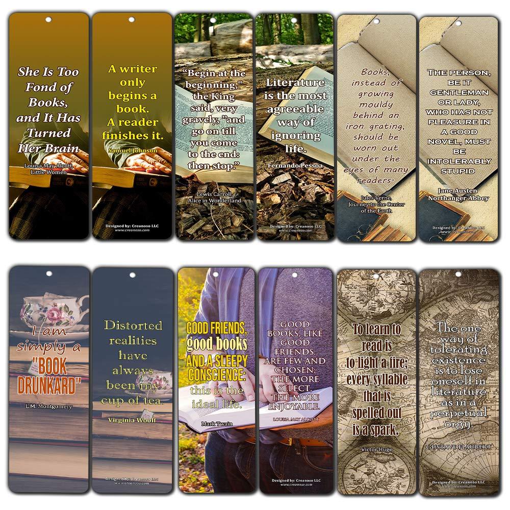 Cita Creanoso inspirador clásico Dichos Avid lectura Marcadores (30-Pack) - Regalitos regalo para los bibliófilos, gusanos de libro, Aficionados a los libros, los jóvenes profesionales - Fiesta - Lectores Club del Libro: