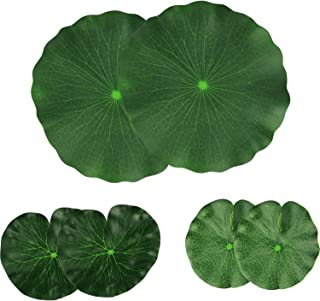 Lightingsky Artificial Floating Foam Lotus Leaves Artificial Foliage Pond Decor Pack of 6 (30cm+18cm+15cm, Pack of 6)