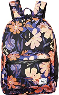 Herschel Kid's Heritage Backpack, Night Floral Black, Youth X-Large 22L