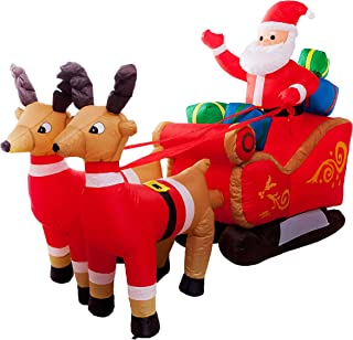 santa sleigh lawn ornament
