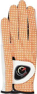 easyglove Classic_Vichy-Orange-W Women's Golf Glove (White)