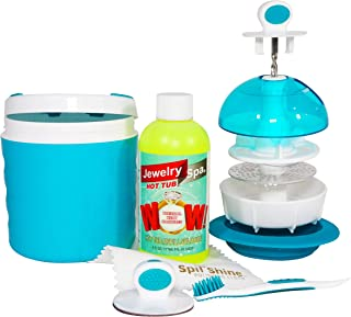 Jewelry Spa Hot Tub Jewelry Cleaner | Removes Tarnish, Germs and Odor from Rings, Diamonds, Gold, Silver and More | The Only Naturally-Based Jewelry Cleaning Kit and Jewelry Cleaning Solution