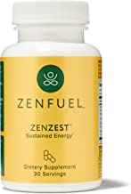 ZenZest - Sustained Energy & Focus – Energy Boost Supplement for Improved Mental Clarity – Daily Energy Supplement Boosts ...