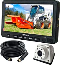 Vibration-Proof 10G for Tractor//Truck//RV//Excavator//Caravan//Skid Steer//Heavy Equipment Night Vision AUTOPAL 7 Wired Reverse Rear View Backup Camera System,Guide line,IP69K No Water Leakage Camera