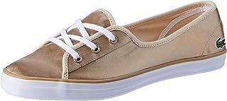 Lacoste Ziane Chunky 118 2 Women's Fashion Shoes, GLD/WHT