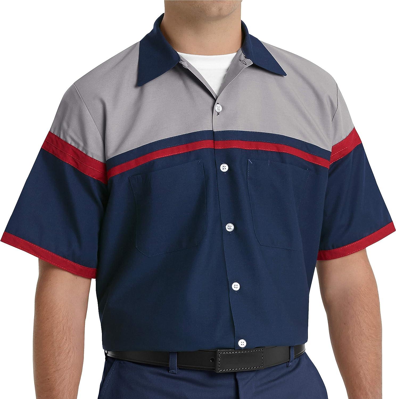 Red Kap Men's Performance Tech Short Sleeve Work Shirt