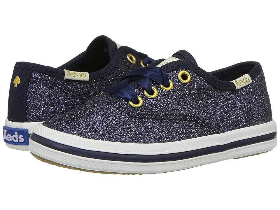 Keds x kate spade new york Kids Champion Glitter (Toddler) (Navy) Girl