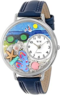 Whimsical Watches Unisex U1210015 Flip-flops Navy Blue Leather Watch