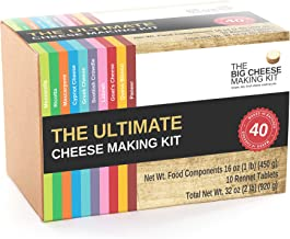 The Ultimate Cheese Making Kit - Make 10 Different Cheeses Across 40 batches. It's The Perfect Foodie Gift.