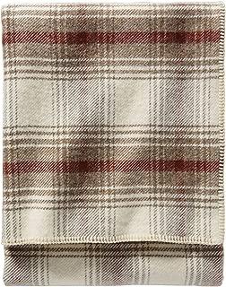 Pendleton - Eco-Wise Washable Wool Blanket, Waverly Plaid Ivory, King