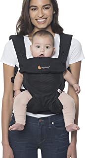 Ergobaby 360 All-Position Baby Carrier with Lumbar Support and Cool Air Mesh (12-45 Pounds), Onyx Black