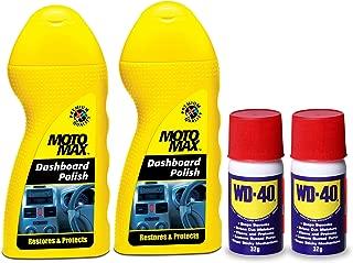 Pidilite Car & bike Care kit Containing Motomax Dashboard polish (2U x 50 ml) and WD-40 (2U x 32g)