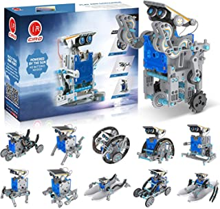 CIRO Solar Robot Toys, STEM Toys Projects for Kids Ages 8-12 and Older, Science Building Educational Gifts for Boys 8 Year...