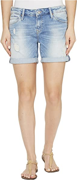 Pixie Boyfriend Shorts in Light Ripped/Crashed
