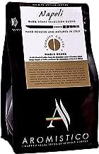 Aromistico | Italian Dark Roast Whole Bean Gourmet Coffee Blend, Rich Strong | NAPOLI BLEND, SMOKY, MALTY & DARK CHOCOLATE-like | For Espresso, Moka, Filter, Cafetiere, Pour-Over Drip, Aeropress