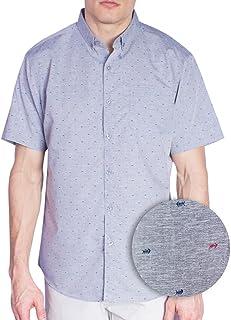 230b74958 Visive Original Printed Short Sleeve Button Down Shirt Size Small - 4XL Big  Mens