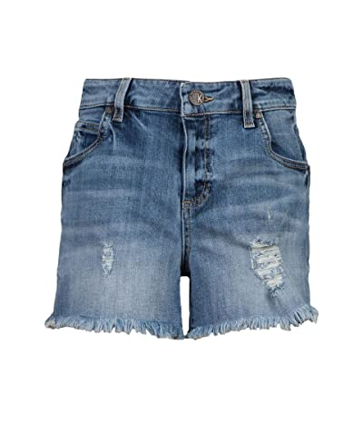 KUT from the Kloth Gidget High-Rise Frey Shorts (Traveler) Women