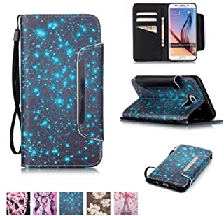 Galaxy S6 Edge Plus Case, Firefish [Kickstand] PU Leather Flip Purse Case Slim Bumper Cover with Lanyard Magnetic Skin for Samsung Galaxy S6 Edge Plus
