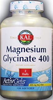 Kal - Magnesium Glycinate 400 Mg. 120 Liquid Softgels