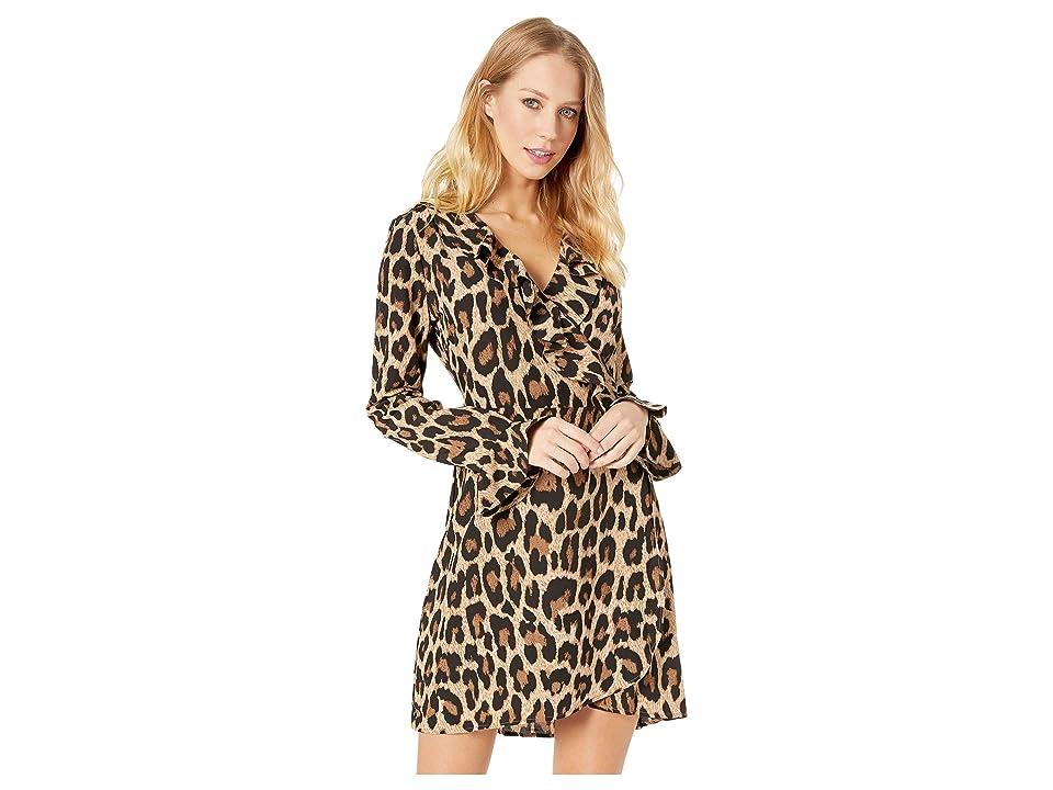 ROMEO & JULIET COUTURE Leopard Print Ruffle Dress (Brown Combo) Women
