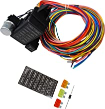 BLACKHORSE-RACING 12-14 Circuit Wire Harness - US GXL Copper Wire StreetRod Race Universal 14 Fuse
