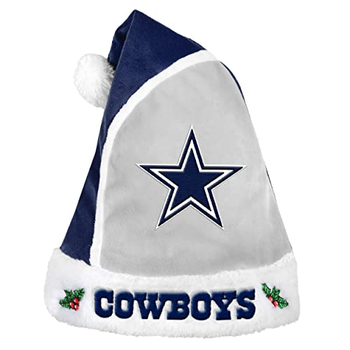 ae4ffbf50 Forever Collectibles 2015 NFL Football Team Logo Holiday Plush Basic Santa  Hat - Pick Team