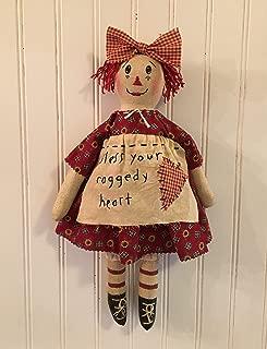 Primitive Folk Art Raggedy Ann Rag Doll