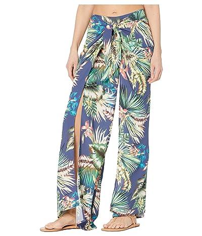 La Blanca Tropical Rain Tie Front Side Slit Pants Cover-Up (Blue Moon) Women