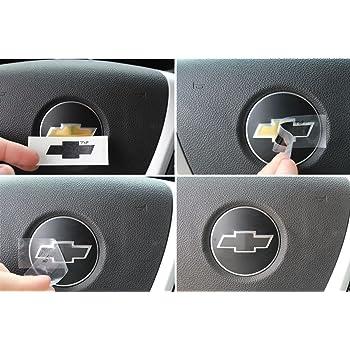 Carbon Fiber Silver Optix Steering Wheel Spoke Vinyl Decal Overlay Trim Wrap Inserts Sticker Compatible with Tahoe Silverado Suburban Avalanche Sierra Yukon 2007-2013