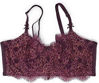 Victoria's Secret , Dream Angels Wicked Unlined Uplift Long Line Bra Wine Shimmer (32D)