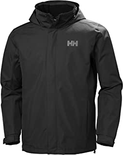 Helly Hansen Men's Dubliner Jacket Waterproof, Windproof, Breathable Shell Rain Coat with Packable Hood