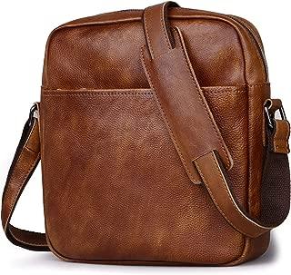 Small Messenger Bag for Men, Jack&Chris Genuine Leather Shoulder Crossbody Bag, JC5205