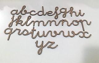comprar comparacion 72 letras minúsculas de madera DM. Abecedario minúsculas tipo de letra escolar