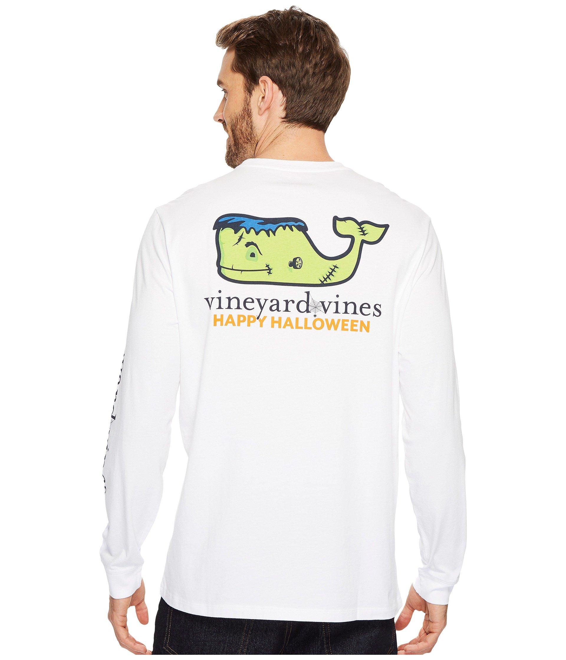 Vineyard Vines Long Sleeve Frankenstein Whale Pocket Tee