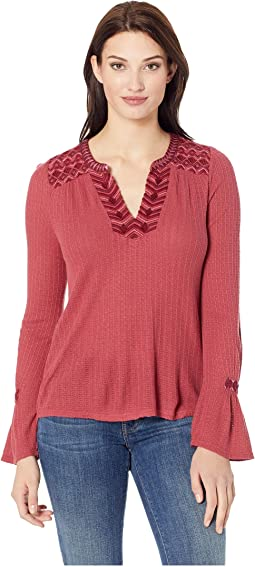 Drop Needle Embroidered Top