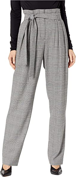 Houndstooth Paperbag Waist Trouser