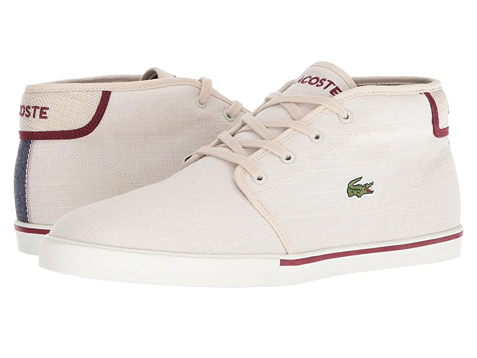 Lacoste Ampthill 218 1 (White/Dark Red) Men