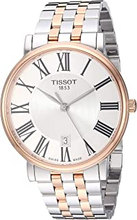 Tissot Analogue Classic Silver Strap Men's Wrist Watches - T122.410.22.033.00, T1224102203300