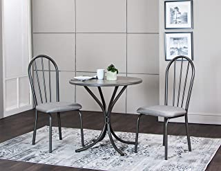 Sunset Trading Steel Gray Dining Set, Small, One Size, Grey
