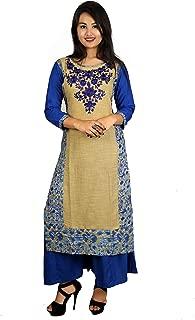 BYANN G Cotton Embroidered Designed Long Kurti Under 299 399 499 599 699