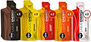 GU Energy Liquid Energy Gel With Complex Carbohydrates, 12-Count, Assorted Flavors
