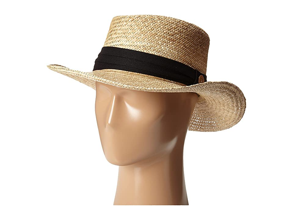 Tommy Bahama - Tommy Bahama Palm Fiber Gambler with 3 Pleat Cotton Band