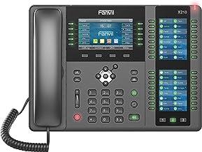 $169 » Fanvil X210 Enterprise VoIP Phone, 4.3-Inch Color Display, Two 3.5-Inch Side Color Displays for DSS Keys. 20 SIP Lines, Du...