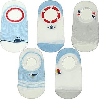 ANIMQUE Niños Bebé Calcetines invisibles 2-10 años niñita niñito calcetines cortos de algodón antideslizante calcetines de...